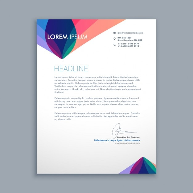 Creative business letter Vector Free Download - business letterhead