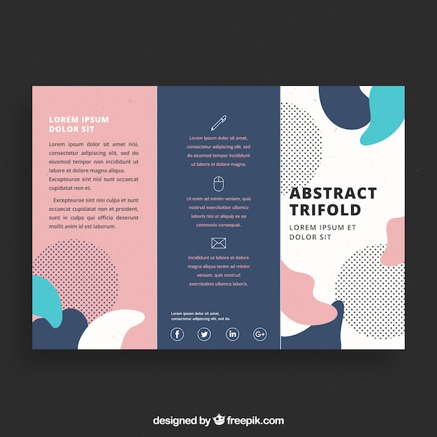 Creative colorful trifold business brochure template Vector Free - tri fold business brochure