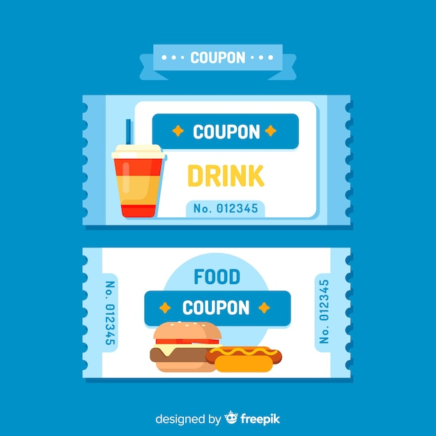Creative coupon or voucher template design Vector Free Download