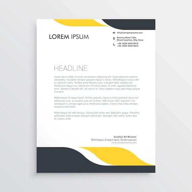 Creative letterhead design template vector Vector Free Download