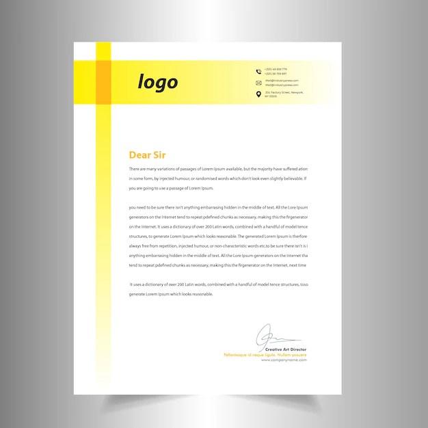 Creative letterhead design template Vector Premium Download