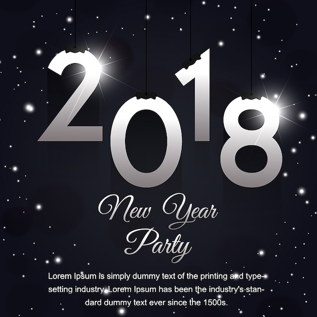 Creative new year poster designs Vector Free Download