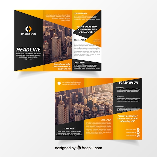 Creative trifold brochure template Vector Free Download