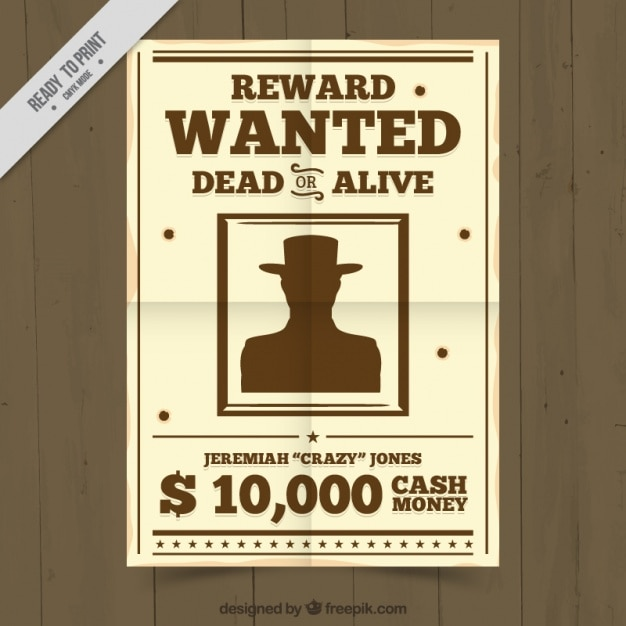 Criminal wanted poster Vector Free Download - criminal wanted poster