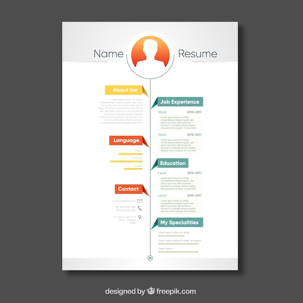 Curriculum template with timeline Vector Free Download - advertising timeline template