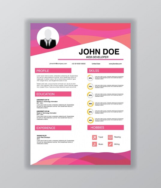 Curriculum vitae template Vector Free Download