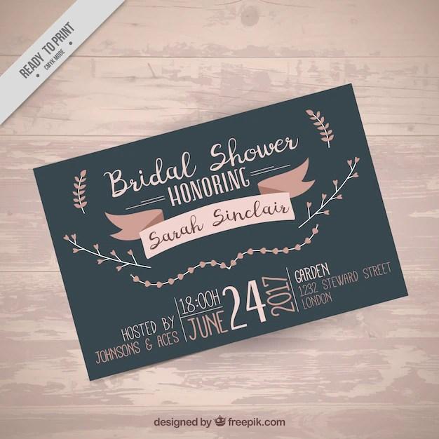 Download Vector - Cute bachelorette invitation template with