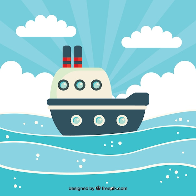 Cute background of boat and clouds Stock Images Page Everypixel
