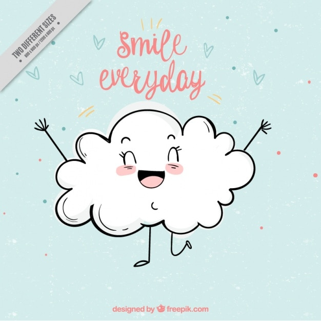 Cute background of smiling cloud Vector Free Download