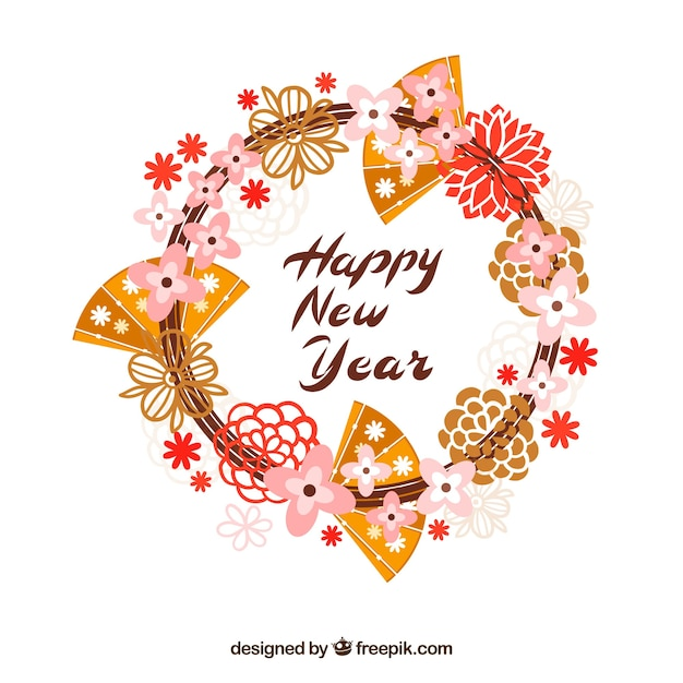 Cute chinese happy new year background Vector Free Download