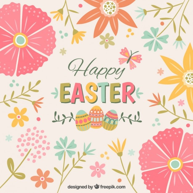 Cute Christian Pintrest Wallpapers Cute Floral Easter Background Vector Free Download