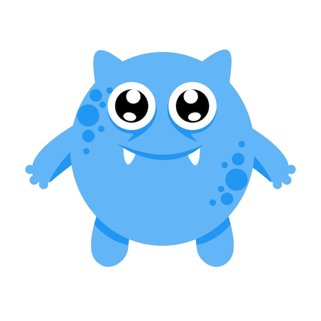 Cute monster character illustration design template Vector Premium - Monster Template