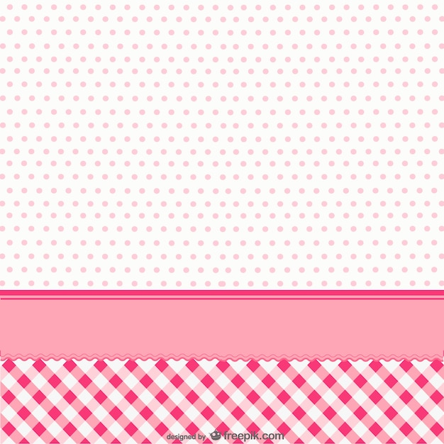 Cute pink background with dots Vector Free Download