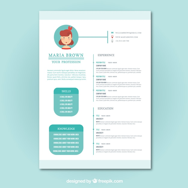 freepik cv template psd