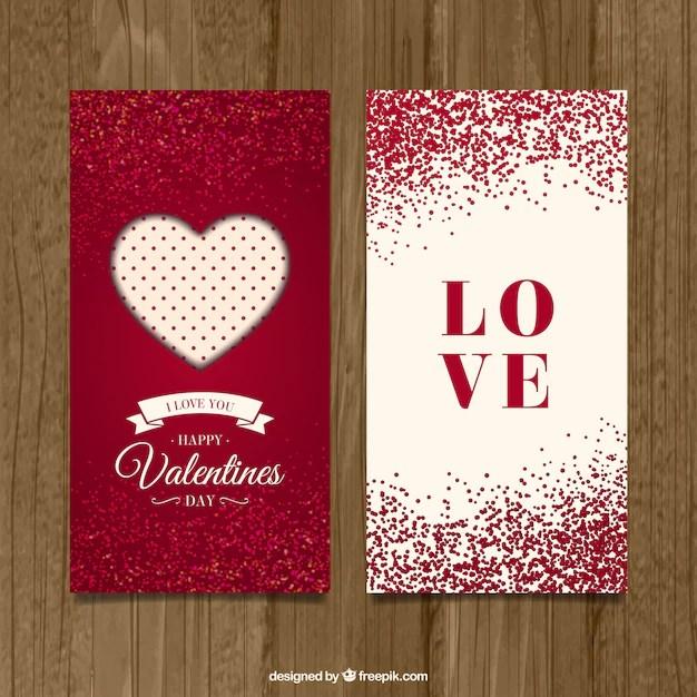 Cute valentine day cards Vector Premium Download