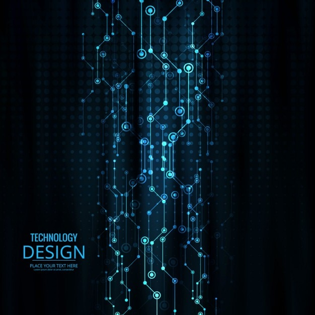 Electric Blue Wallpaper Hd Dark Background With Technological Design Vector Free