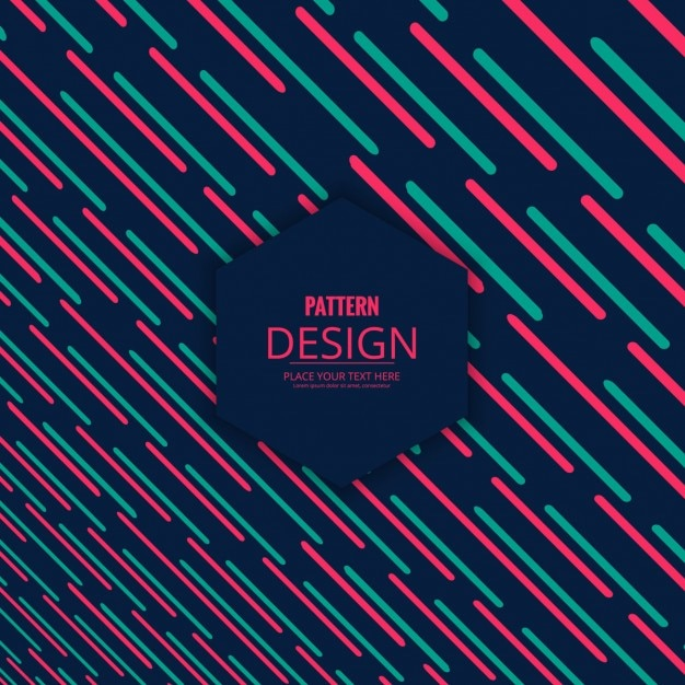 Dark pattern with pink and green stripes Vector Free Download