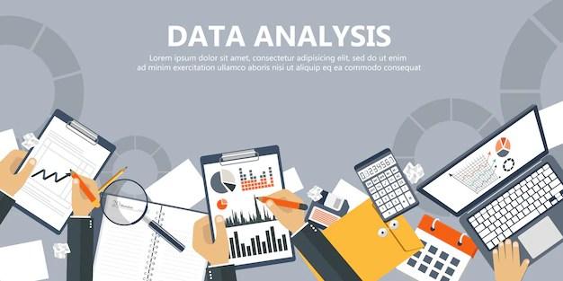 Data Analysis Banner Vector Premium Download