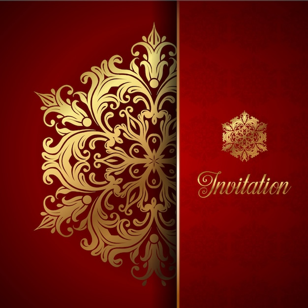 Decorative invitation background Vector Free Download