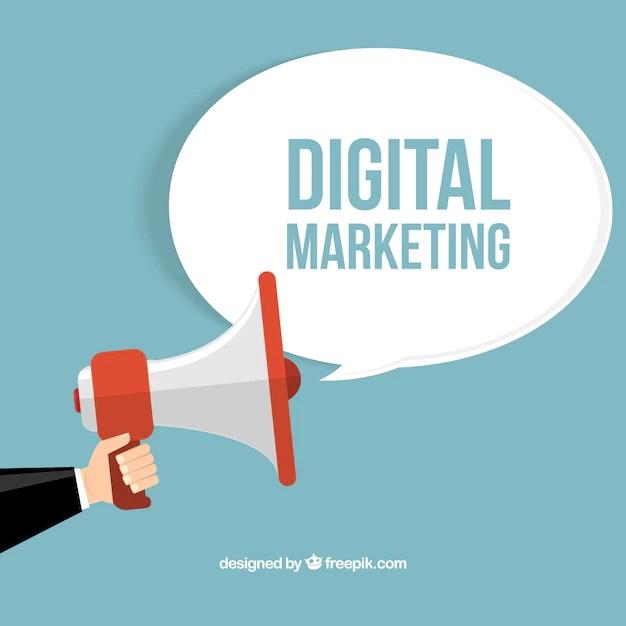 Digital marketing concept Vector Free Download