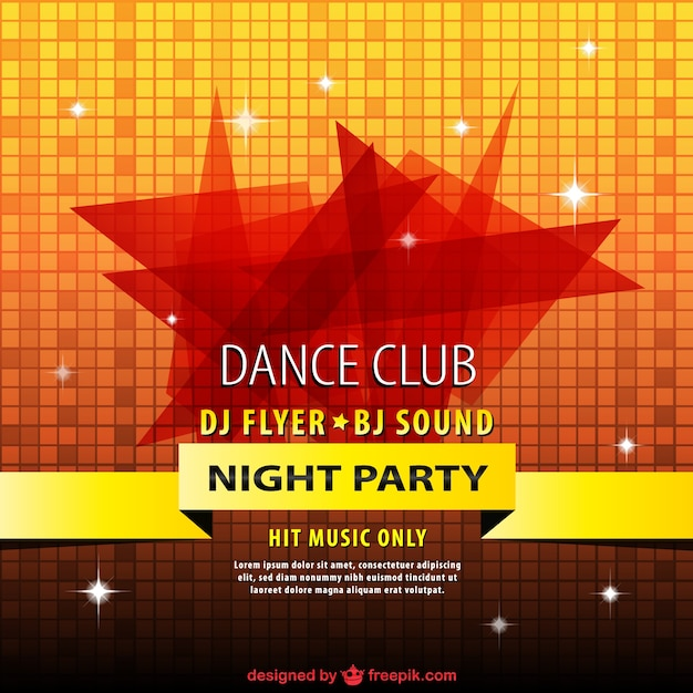 Disco party flyer Vector Free Download