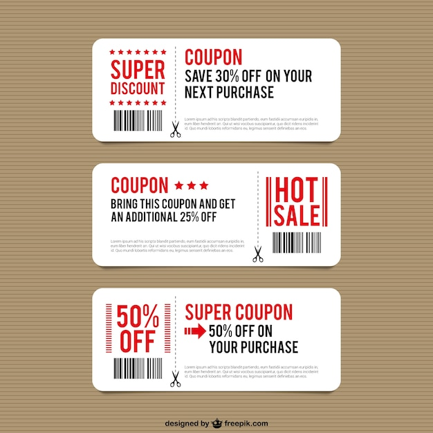 Discount coupon templates Vector Free Download - coupon template