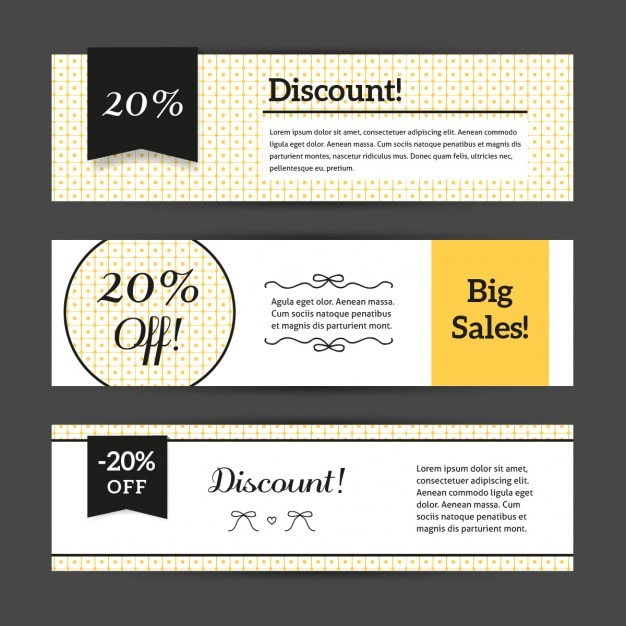 Discount voucher templates with cute pattern collection Vector