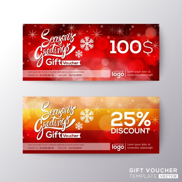 Discount vouchers for christmas Vector Free Download