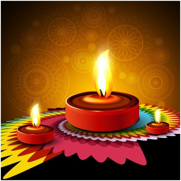 India Wallpaper 3d Diwali Background With Colorful Ornament Vector Free