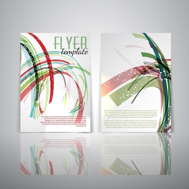 Double sided flyer template with abstract design Vector Free Download - double sided brochure templates