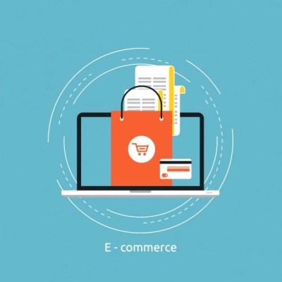 E-commerce background design Vector | Free Download