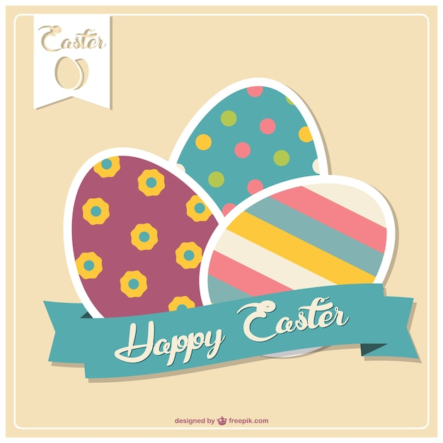 Easter card template Vector Free Download