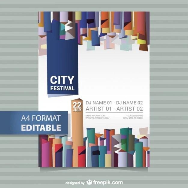 Editable festival poster template Vector Free Download - editable poster templates