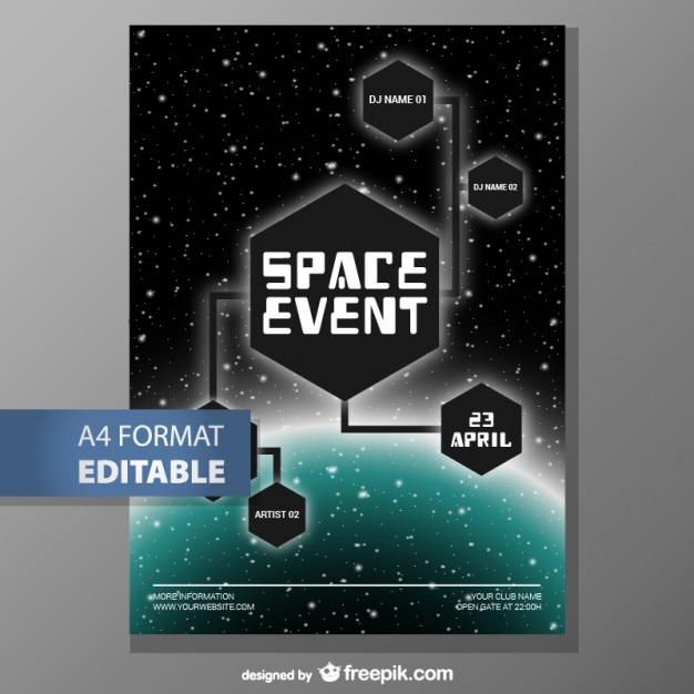 Editable poster template fee download Vector Free Download