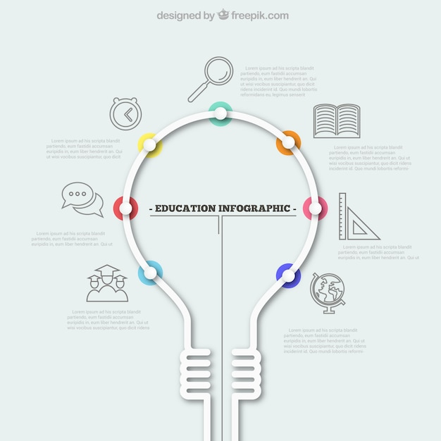 light bulb circle infographic template for graphs charts diagrams