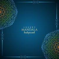 Elegant blue mandala background design Vector | Free Download