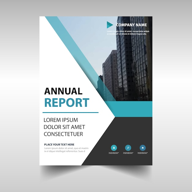 Elegant blue professional annual report template Vector Free Download - annual report template design