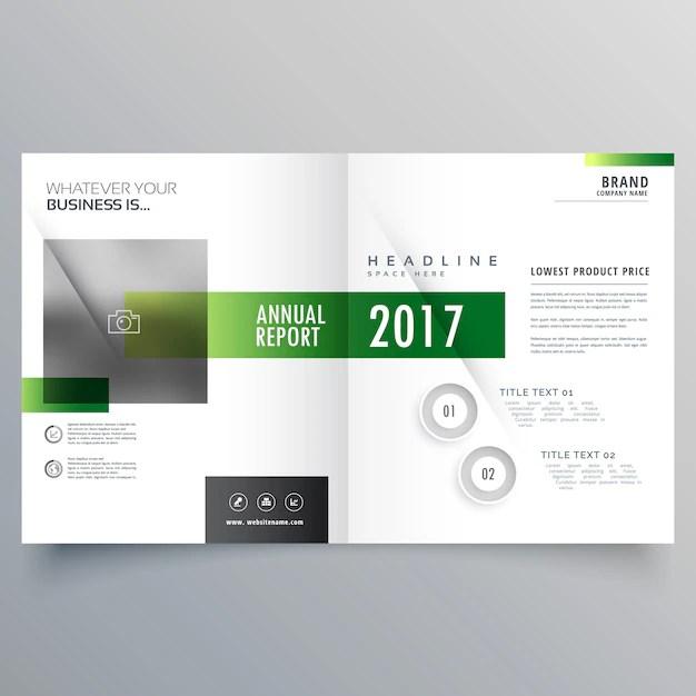 Elegant green bi fold brochure or magazine cover page design