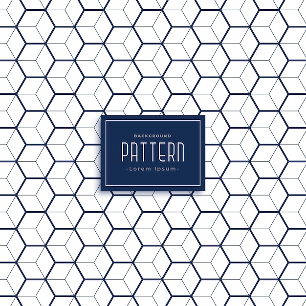 Elegant hexagonal 3d cube style pattern background Vector Free