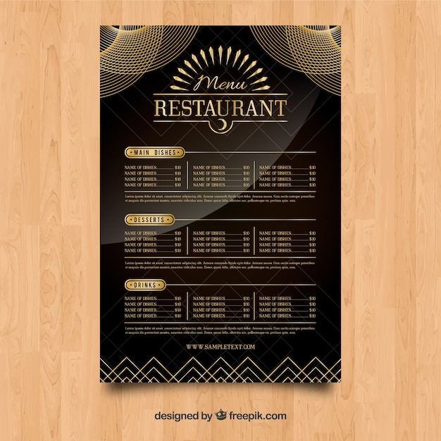 Download Vector - Elegant restaurant menu template - Vectorpicker