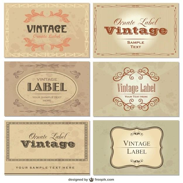Elegant vintage labels Vector Free Download