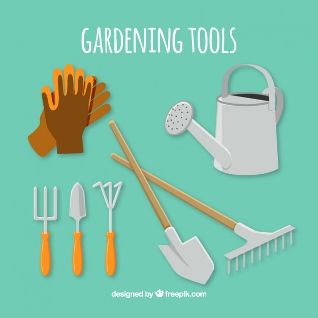 Essential Tools For Gardening Vector   Free Download