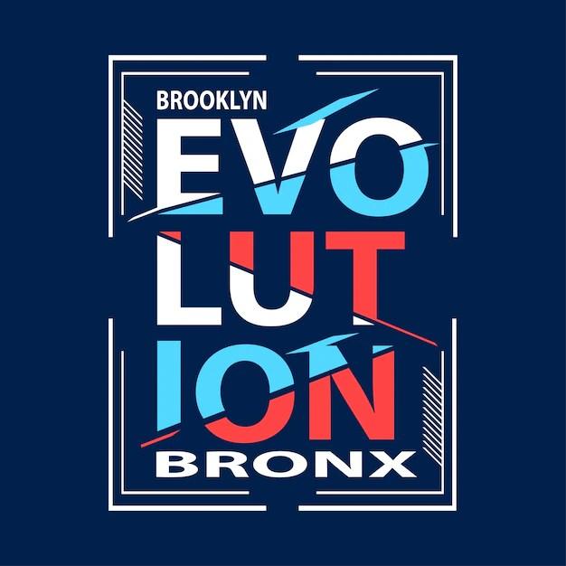 Evolution typography t shirt design Vector Premium Download
