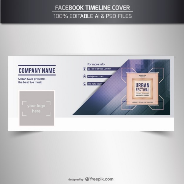 Facebook timeline cover vector Vector Free Download