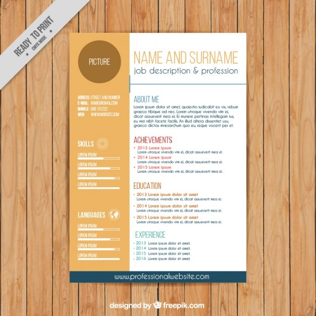 Fashion CV template Vector Free Download - fashion resume template