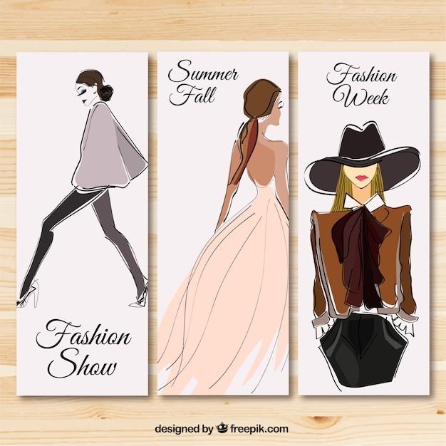 Invitation Card Edit Online Fashion Show Banners Vector | Free Download