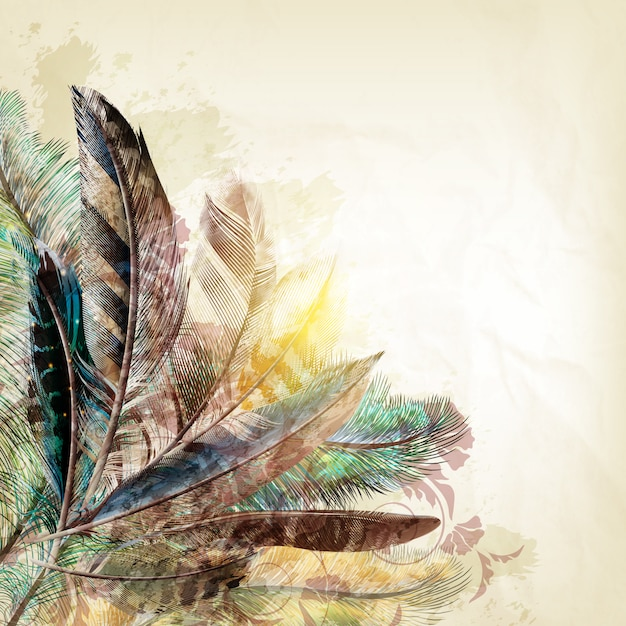 Cute Wallpaper Pictures Free Download Feathers Background Design Vector Premium Download
