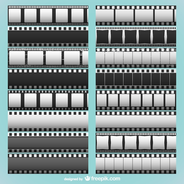 Film strips collection Vector Free Download