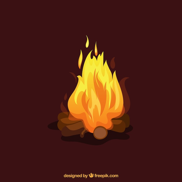 Fireplace 3d Wallpaper Fire Illustration Vector Free Download