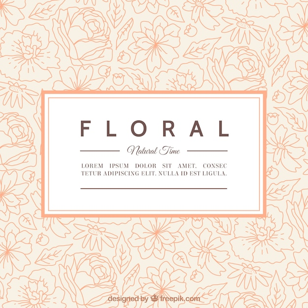 Floral card template Vector Free Download - free card templates